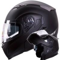 Motorcycle Snowmobile Black Helmet